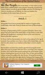 Captura 2 de The United States Constitution para windows
