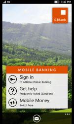 Captura de Pantalla 1 de GTBank Mobile para windows
