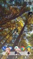 Screenshot 5 de Akimeji: Shimeji, Chibis, Anime Live Wallpaper para android