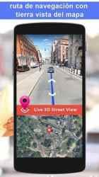 Screenshot 2 de GPS satélite - En Vivo tierra mapas Y voz náutica para android