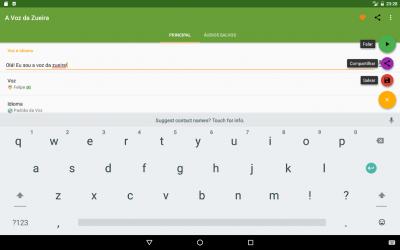 Captura 11 de La Voz de Zueira - Voz de Loquendo para android