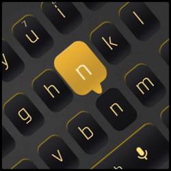 Imágen 1 de Simple Black Yellow Keyboard para android
