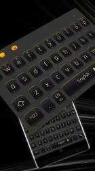 Screenshot 2 de Simple Black Yellow Keyboard para android