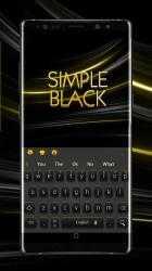 Captura de Pantalla 3 de Simple Black Yellow Keyboard para android