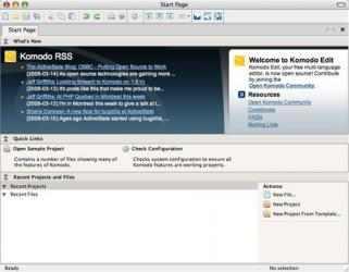 Captura de Pantalla 1 de Komodo Edit para mac