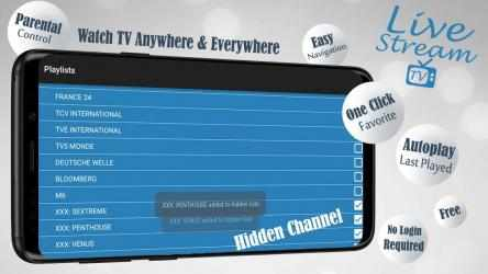 Screenshot 13 de Livestream TV - M3U Stream Player IPTV para android
