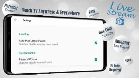 Screenshot 9 de Livestream TV - M3U Stream Player IPTV para android