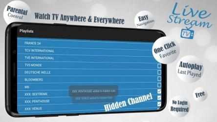 Screenshot 6 de Livestream TV - M3U Stream Player IPTV para android