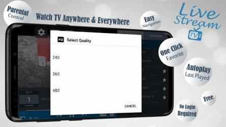 Captura de Pantalla 3 de Livestream TV - M3U Stream Player IPTV para android