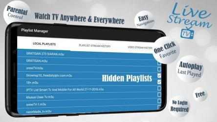 Screenshot 8 de Livestream TV - M3U Stream Player IPTV para android