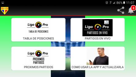 Captura de Pantalla 5 de Futbol PRO Ec para android