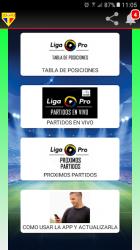 Captura de Pantalla 2 de Futbol PRO Ec para android