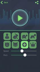 Captura de Pantalla 1 de Cambiador de voz - Programa para cambiar la voz para iphone