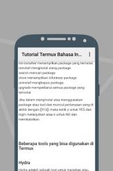 Captura de Pantalla 4 de Tutorial Termux Bahasa Indonesia para android