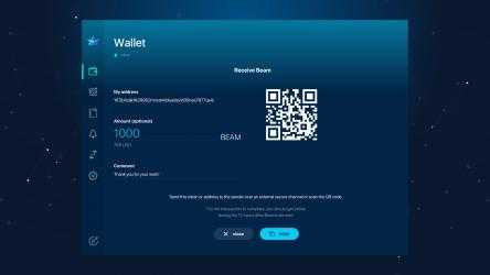 Captura de Pantalla 5 de Beam Privacy Wallet para windows