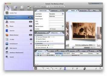 Captura 1 de MacFamilyTree para mac