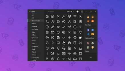 Screenshot 1 de Pichon - Free Icons para windows