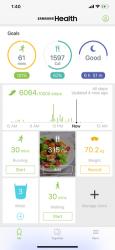 Screenshot 1 de Samsung Health para iphone