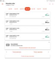 Screenshot 8 de OUI.sncf : Billetes de Tren y Autobús para Francia para android