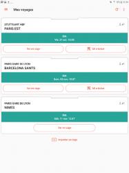 Captura 10 de OUI.sncf : Billetes de Tren y Autobús para Francia para android