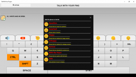 Captura 2 de TALK WITH YOUR FINGERS para windows