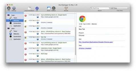 Screenshot 4 de Any Keylogger para mac