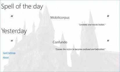 Captura de Pantalla 2 de Harry Potter Spell Daily para windows
