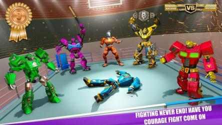Captura 3 de Real Robot fighting games – Robot Ring battle 2019 para android