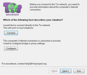 Captura de Pantalla 1 de Tor para windows