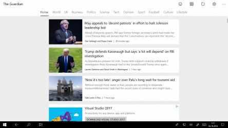 Captura 2 de News Reader for The Guardian para windows