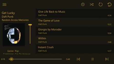 Captura de Pantalla 12 de Loco music player delight para windows