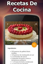 Screenshot 8 de Recetas De Cocina Caseras Rápidas Y Fáciles para android