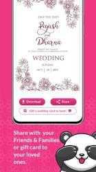 Screenshot 7 de Shaadi & Engagement Card Maker by Invitation Panda para android