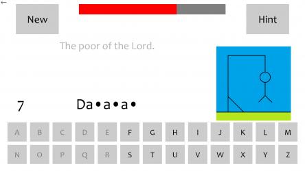 Captura de Pantalla 5 de Bible Hangman: Windows 10 Edition para windows