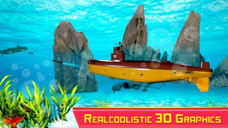 Captura de Pantalla 2 de Submarine Strike: Submarine Driving Combat para android