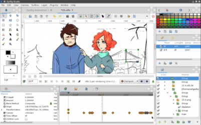 Screenshot 1 de Synfig para windows
