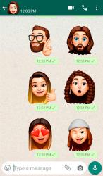 Captura de Pantalla 2 de Memoji Apple Stickers for Android WhatsApp para android