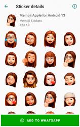 Screenshot 5 de Memoji Apple Stickers for Android WhatsApp para android