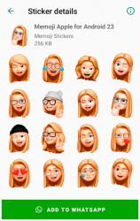 Captura 7 de Memoji Apple Stickers for Android WhatsApp para android