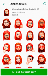 Captura 8 de Memoji Apple Stickers for Android WhatsApp para android