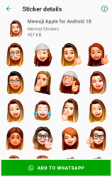 Captura 4 de Memoji Apple Stickers for Android WhatsApp para android