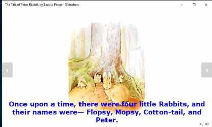 Captura de Pantalla 6 de The Tale of Peter Rabbit, by Beatrix Potter - Slideshow para windows