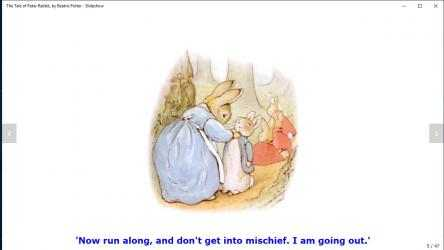 Screenshot 4 de The Tale of Peter Rabbit, by Beatrix Potter - Slideshow para windows