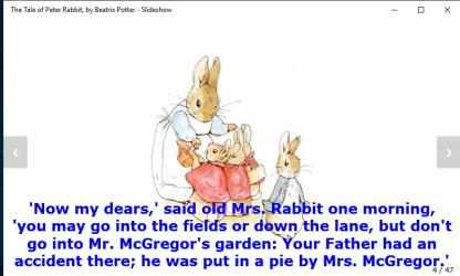 Captura de Pantalla 7 de The Tale of Peter Rabbit, by Beatrix Potter - Slideshow para windows