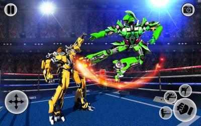 Captura 2 de Futuristic Robot Ring Fighting 2020 para android