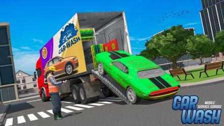 Screenshot 9 de Car Wash Service Truck Game - Car Mechanic 3D para android