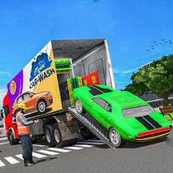 Captura de Pantalla 1 de Car Wash Service Truck Game - Car Mechanic 3D para android