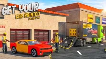 Screenshot 11 de Car Wash Service Truck Game - Car Mechanic 3D para android