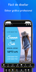 Screenshot 6 de Creador de Carteles gratis Folletos Publicidad para android