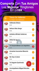 Screenshot 5 de Tonos De Llamada Gratis Vallenatos para android